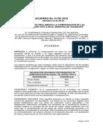 Acuerdo No 15 de 2012 Zonas de Cesin Tipo A