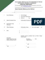 Format Laporan Perjalanan Dinas