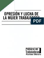 Olga Cristobal, Opresion y Lucha de La Mujer Trabajadora