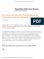 A Critical Window for Policymaking on Population Aging in Developing Countries