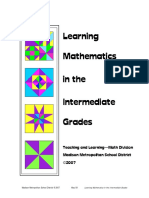 learning mathematics in the intermediate grades
