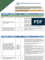 Truste Gdpr Readiness Assessment Sample
