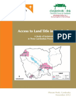 Access to Land Title in Cambodia 2012
