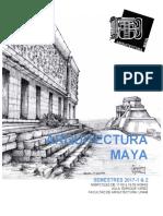2017-1 & 2. Seminario de ArquitecturaMaya; FA-UNAM. México.