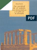 Ronchi Rocco La Verdad en El Espejo Los Presocraticos y El Alba de La Filosofia