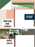 Presupuesto Participativo 2017 Vilca