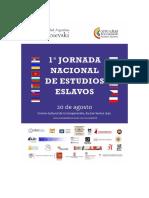 1° Jornada Nacional de Estudios Eslavos - 3ra  Circular.pdf
