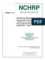 Hamburg Wheel Track Test Requirements Nchrp_w219