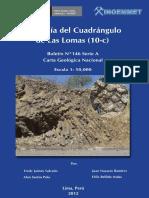 Boletin Nº 146- Geología Del Cuadrangulo de Las Lomas %2810-C%29