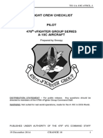 476th VFG a-10C Flight Crew Checklist Change 10