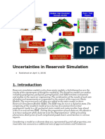 Uncertainties in Reservoir Simulation