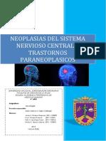 Tumores Del SNC y Trastornos Paraneoplasicos