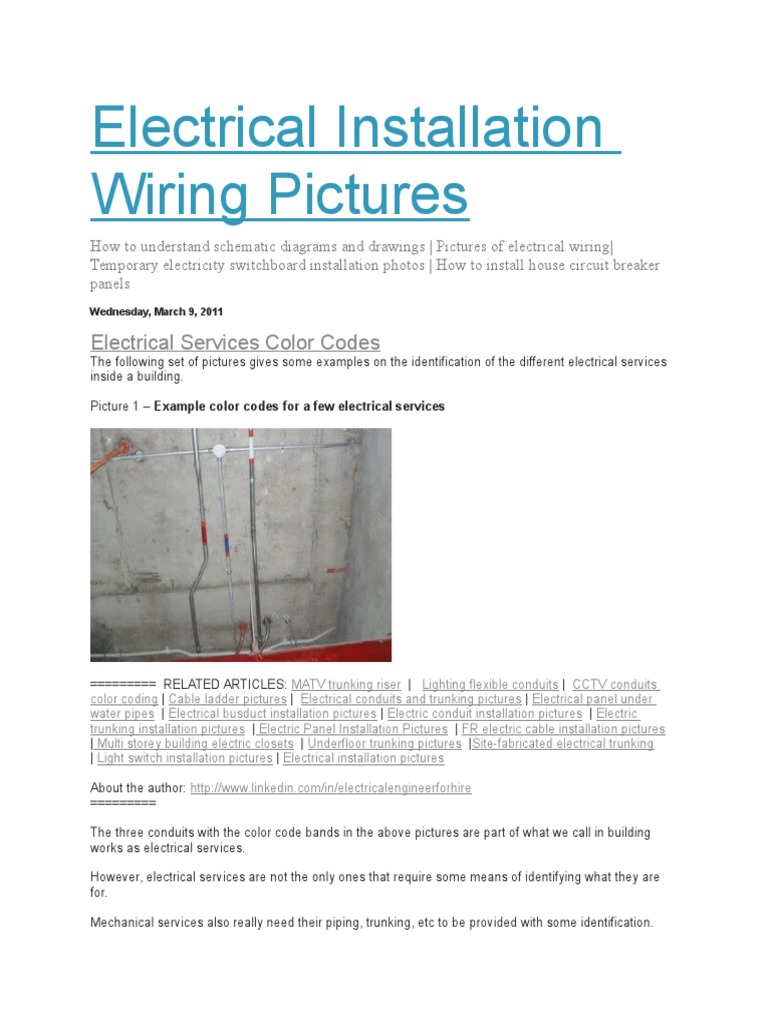 M&E Coordination | Electrical Wiring | Cable