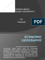 Learning Media of Economic Geography