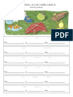 Prepositions - In on Under Next to 3