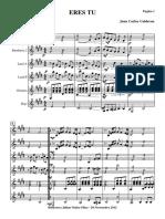 Eres Tu.orquesta de Plectro e Instrumentos.solfeo y Cifra