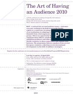 The Art of Having an Audience 2010