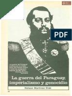 La guerra del Paraguay, imperialismo y genocidio por Nelson Martínez Díaz