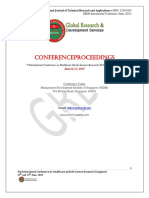 Proceedings ICHLSR Singapore, June