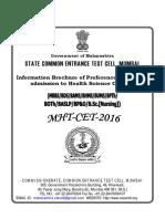 MHT-CET 2016 Preference Booklet Dt. 10.06.2016