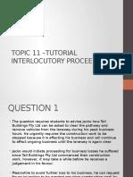 interlocutory proceedings