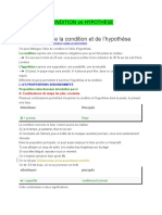 Condition vs Hypothèse (1)
