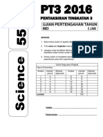 Ujian Pertengahan Tahun 2016 Sains PT3