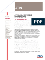 Automobile Expenses and Recordkeeping