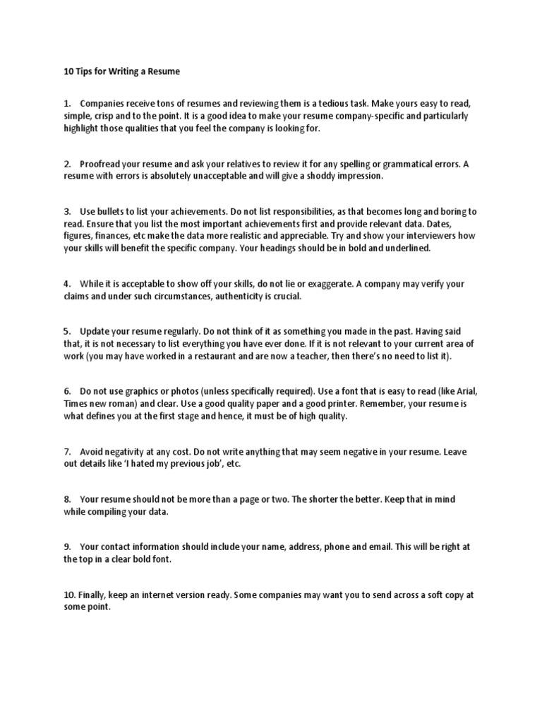 BEC-Writing a Resume | Résumé | Recruitment