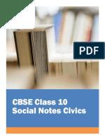 CBSE Class 10 Social Science Civics Notes
