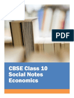 CBSE Class 10 Social Science Economics Notes