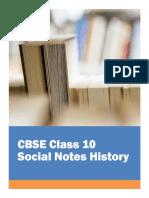 CBSE Class 10 Social Science History Notes