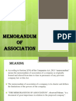 4 Memorandum of Association