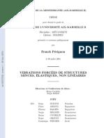 Vibrations Non Linéaires Des Structures (Thèse)