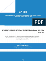 API 600-2015- Steel Gate Valves,