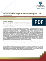 CRISIL Research Ipo Grading Rationale Advanced Enzymes Technologies