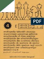 Encyclopedia of Chess Openings Volume E