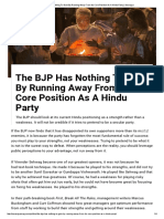 The BJP Has Nothing to Gain by Running Away From Its Core Position as a Hindu Party _ Swarajya