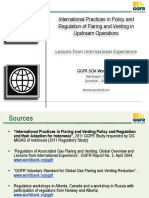 International Practices in Policy and Regulation of Flaring and Venting in Upstream Operations