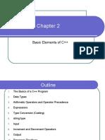 Chapter 2 Basic elements of C++