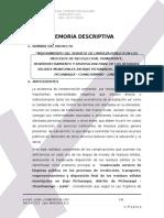 Memoria Descriptiva Pichanaqui