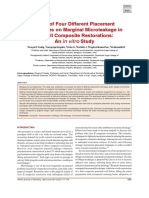 Effect of Four Different Placement Techniques on Marginal Microleakage in Class II Composite Restorations an Iini Vitro Study
