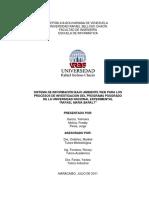 "Web Information System For Processes Research of Graduate Program at National University Experimental ""Rafael Maria Baralt"""