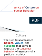 Culture and Consumer Behaviour