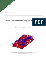Méthodes Numériques (Spectrales) Écoulements Incompressibles
