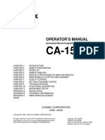CA-1500 Operators Manual