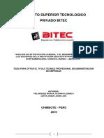 Analisis de Satisfaccion Laboral y Desempeño Academico de La Iep Peruano Norteamericano Coishco Marzo Abril 2016
