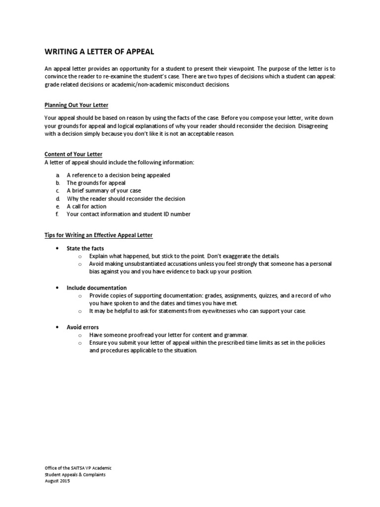 How to write a letter of appeal academic dishonesty politics spiritdancerdesigns Image collections