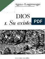 102472407 Dios Su Existencia Garrigou Lagrange