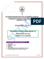 SVIMS MD Prospectus 2016